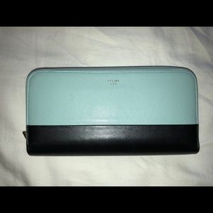 Celine Bi-Color large zippered wallet